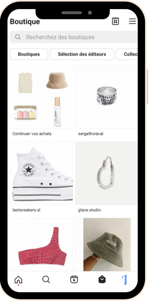 Instagram Shopping - outil - ventes