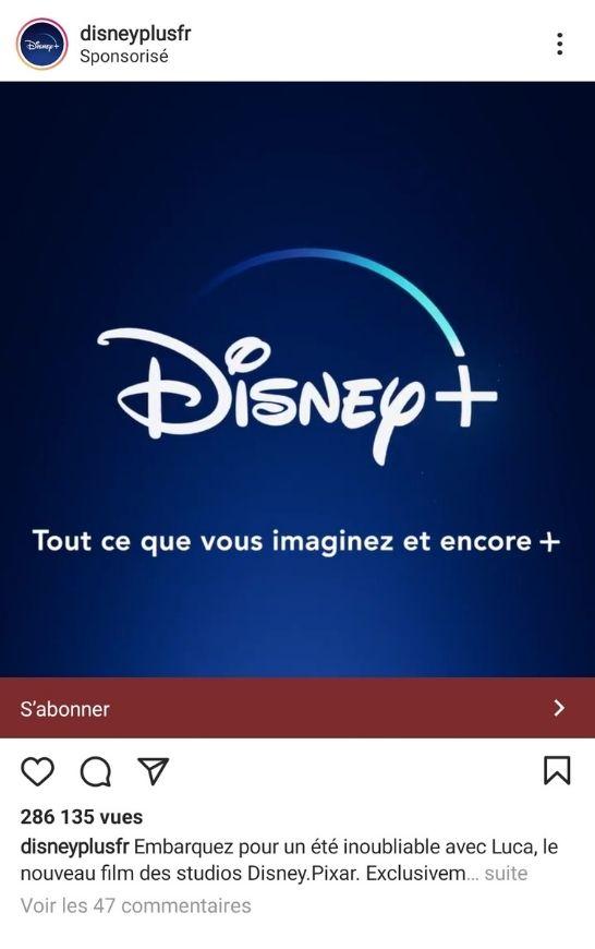 Publicité - Instagram - Algorithme