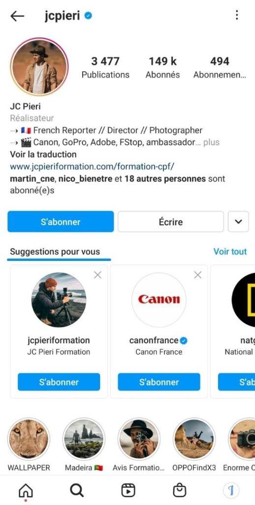 Suggestions - relations - réseau - Algorithme - Instagram