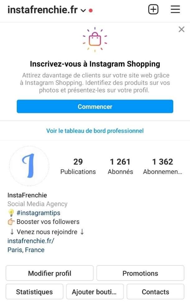 Compte professionnel - astuces - réussir - Instagram - 2021