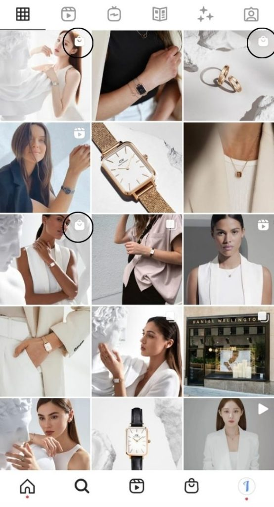 balises d'achat - Instagram Shopping - Swipe up - débloquer - Instagram
