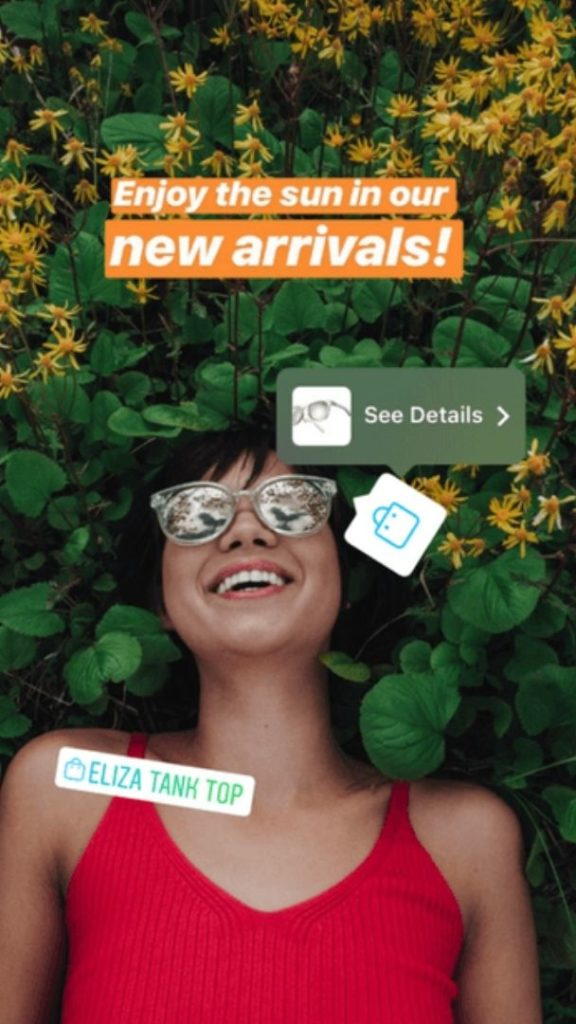 Instagram Shopping - Autocollant d'achat - Instagram - Swipe up